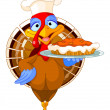 Stock Vector: Turkey and Pie