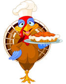 Turkey and Pie — Stock Vector