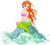 Beautiful Mermaid — Stockvector