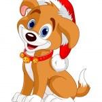 Christmas dog — Stock Vector #14434071