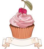 Beautiful cupcake — Stock Vector