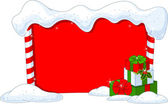 Christmas board — Stock Vector