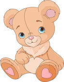 Cute Teddy Bear — Stock Vector