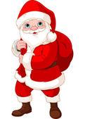 Santa Claus with a Bag — Stock Vector