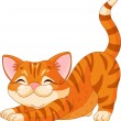 Stock Vector: Cute kitten stretching