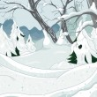 Winter Forest — Stock Vector