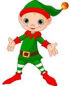 Happy Christmas Elf — Stock Vector