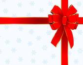 Christmas bow design — Stock Vector
