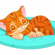 Sleeping kitten — Stock Vector #16933111