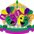 Mardi Gras Masks design — Stock Vector #18865771