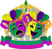 Mardi Gras Masks design — Stock Vector