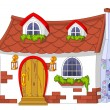 Cute Little House - Stock Vector