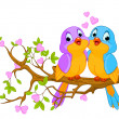 Birds in Love - Image vectorielle