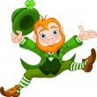 Stock Vector: Happy Leprechaun