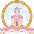 Stock Vector: Princess castle design
