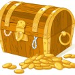 Treasure chest — Vettoriale Stock #19399603