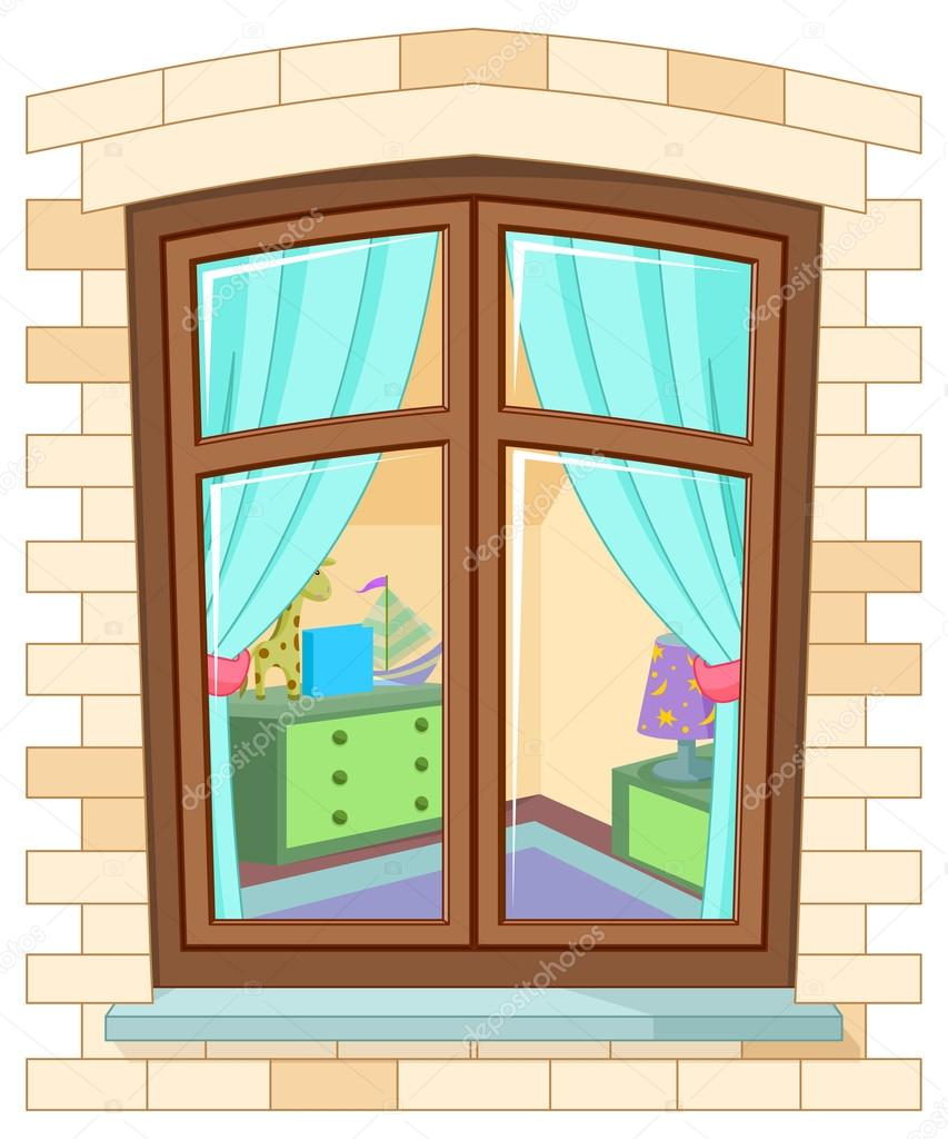 Ventana de dibujos animados vector de stock for The ventana