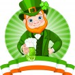 Stock Vector: Leprechaun Toast