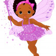 Cute little baby fairy — Stock Vector