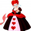 Stock Vector: Angry Queen of Hearts