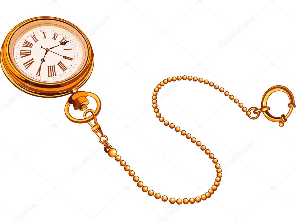 Vintage pocket watch  Public domain vectors