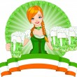Royalty-Free Stock Vector Image: St. Patrick Day girl