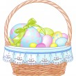 Easter Basket - Stock Vector