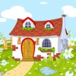 Cute little house — Stock Vector #21882783