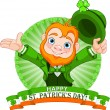 Stock Vector: Leprechaun Greeting