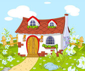 Cute little house — Stock Vector