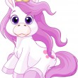 Cute horse princess — Vector de stock #22931200