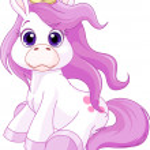 Cute horse princess — Stock Vector