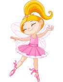 Little fairy ballerina — Stock Vector