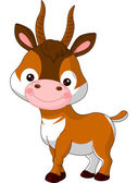 Fun zoo. Antelope — Stock Vector