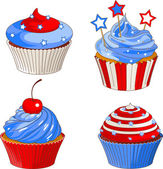 Patriotic cupcakes — Stock Vector