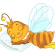 Sleeping bee — Stock Vector