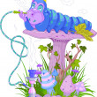 The Blue Caterpillar — Imagen vectorial
