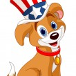 Vector de stock : Fourth of July puppy