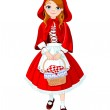 Little red riding hood — Stock Vector