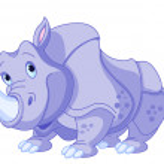 Cartoon rhino — Stock Vector #26158067