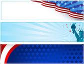 Patriotic banners — Stock Vector