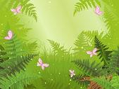 Magic forest landscape — Stock Vector