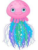 Cute Jellyfish — Stock Vector