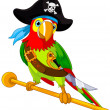 Stock Vector: Pirate Parrot