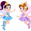 Two cute fairies — Stock Vector