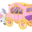 Princess Carriage — Wektor stockowy #30124213
