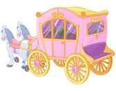 Princess Carriage — Stock Vector