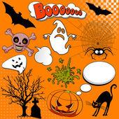 Halloween Comic elements — Stock Vector