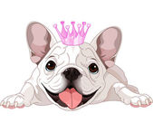 Royalty bulldog — Vector de stock