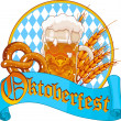 Oktoberfest Celebration design — Stock Vector
